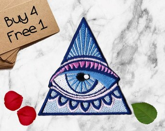 Evil Eye Patch All Seeing Eye Patch Iron On Patch Embroidered Patch Punk Patches Patches for Backpacks