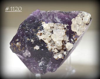 Hardin County, Illinois, Purple Fluorite with White Calcite