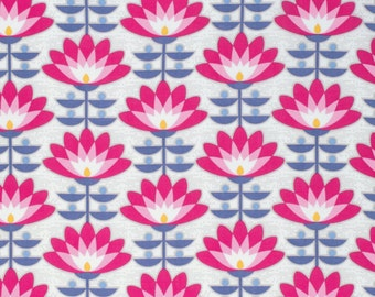 SALE - 1 yard - Deco Bloom in Fuchsia, Atrium collection by Joel Dewberry