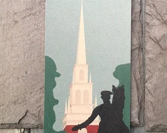 Boston Cityscape // Old North Church // Paul Revere's Ride // Note Card