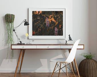 "Botanical Print, Instant Download, Digital Download, Botanical Art, Nature Print, Nature Art, Flower Print, Flower Art, Purple ""Alpine Veg"""
