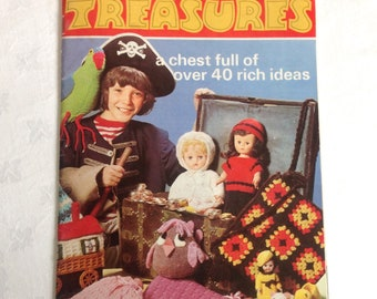 Vintage Patons Treasures Book Toys and Gifts 40+ Patterns and How-To Guide Original Book