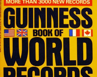 """Guinness Book of World Records """"The 1991 Edition more than 3000 New Records"""""""