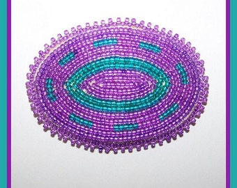 Purple and Teal Hair Barrette