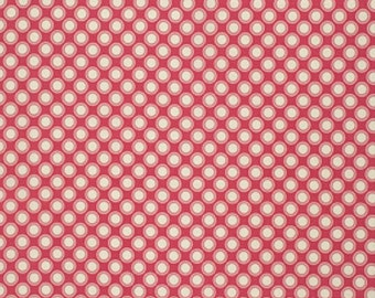 Free Spirit Verna Mosquera RUSTIC Blush-Retro POLKADOT-Berry PWVM129   1 YD Cut