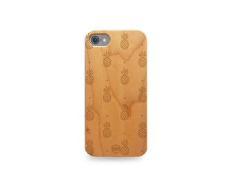 Wooden - pineapple iPhone case