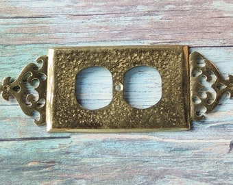 Glo-Mar Solid Brass Ornate Switch Plate Outlet Cover Art Works Inc. NY Home Lighting Renovation Projects