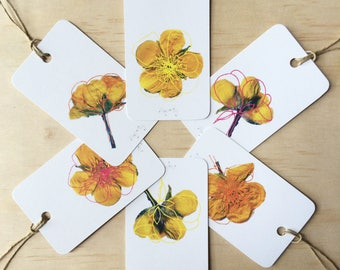 Buttercupped Gift Tags  x6