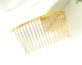 Gold Hair Comb - 38mm wide, 77mm long