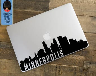 Minneapolis City Skyline Macbook / Laptop Decal