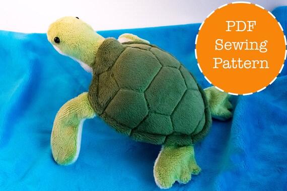 Sea turtle plush pattern stuffed animal sewing PDF from ...