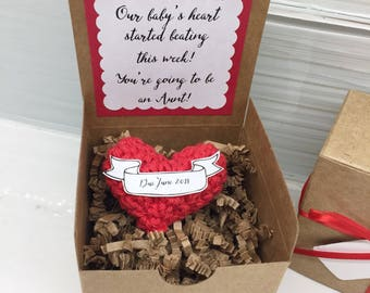 Red Heart Hand Crocheted: baby announcement, pregnancy announcement, you are going to be a grandmother, new baby