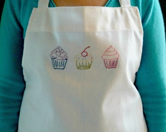 Apron Cupcake Embroidered Kitchen Accessory Baking