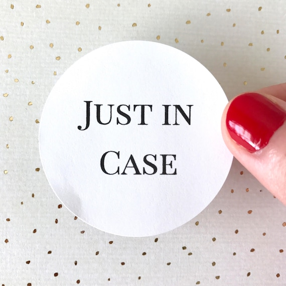 Just In Case Stickers Hangover Kit Sticker Round Circle
