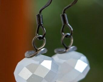 Light Gray Shimmer Earrings