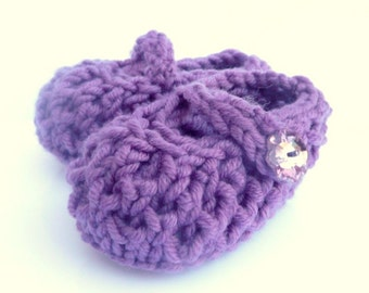 Baby BOOTIES Knitting PATTERN Bonny Baby Mary Jane Shoes  - Instant Download Pattern