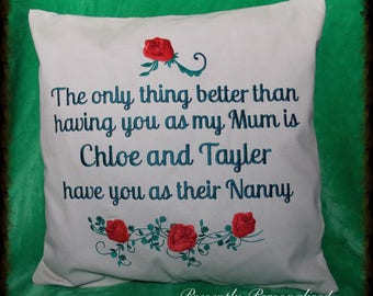 Personalised Pet Embroidered Cushion Cover