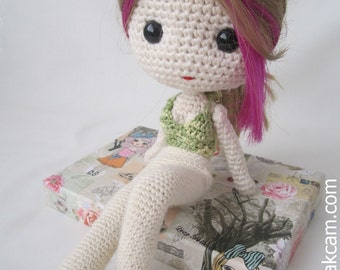 PDF Crochet Pattern for Deniz Doll Outfit