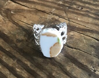 Broken China Adjustable Ring