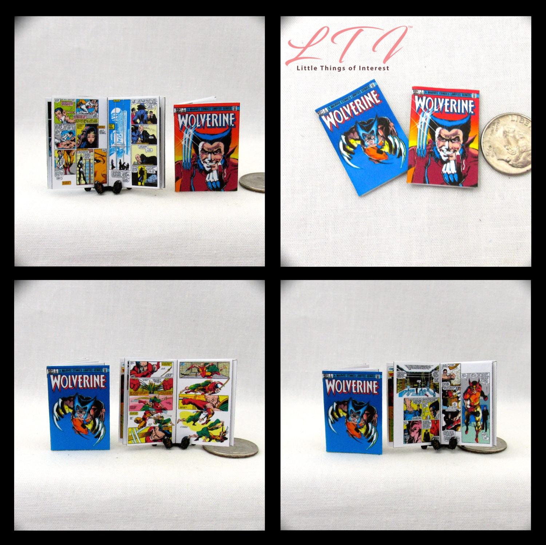 2 WOLVERINE COMIC Books Dollhouse Readable Miniature Comic