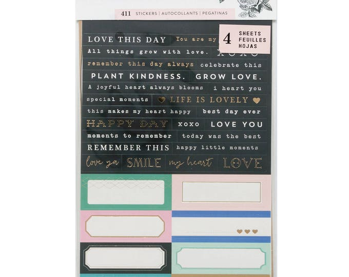 Flourish by maggie holmes tiny phrase stickers