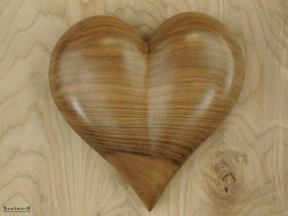 "Valentine's Gift ""Beautiful"" English Walnut Heart Wall Art   Bentworx™"