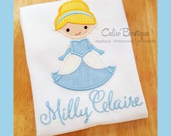 Princess Ella Inspired - Princess Applique Shirt - Personalized Cinderella Girls Top - Princess T-Shirt - Princess Birthday Shirt - Vacation