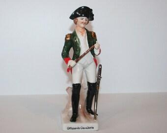 Vintage Italian Porcelain Figure Soldier 'Officer de Cavalerie' / MEMsArtShop .