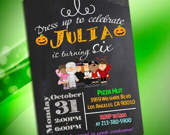 Halloween Birthday Invitation, Halloween Birthday Party, Costume Party Invitation