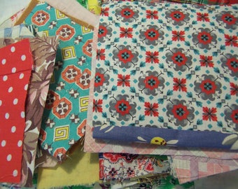 vintage array of fabric scraps