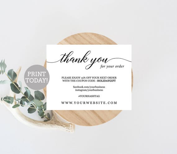 Business thank you card template etsy seller thank you card fbccfo Choice Image