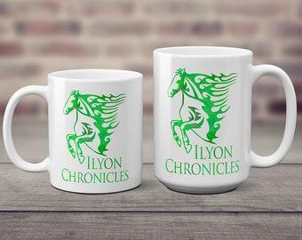 Ilyon Chronicles Green Horse Coffee Mug