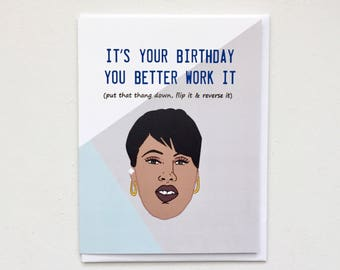 Missy Elliot Birthday Card, Pass that Dutch Card, Missy Misdemeanour Card, Hip hop Card