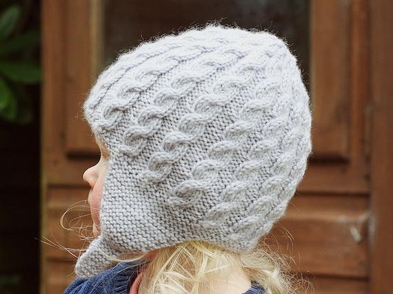 PDF Knitting Pattern Baby Hat Pattern Earflap Hat Pattern