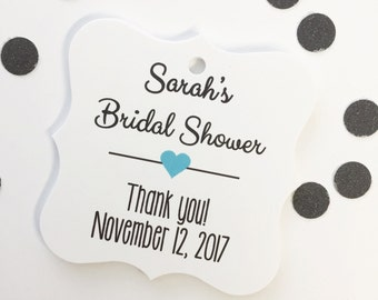 Bridal Shower Favor Tags, Customized Shower Tags, Bridal or Baby Shower Favor Tags (FS-006)