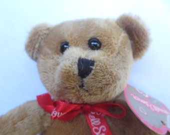 Bear //Russel //Stver//Plush//Toy//Brown Bear//Small//Miniature//