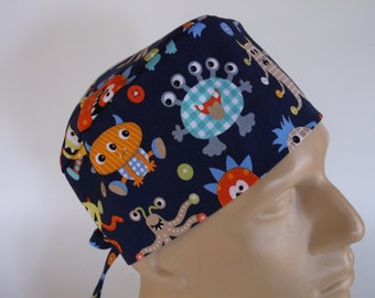 Monster Mash -  Men's Surgical Scrub Hat  with sweatband option, scrub cap, bakers hat,89-4900