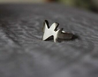 Samiomor - 100% Silver Metal Splash Ring