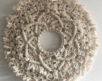 Bethany // Circular Macramé Mandala Wall Hanging or Table Runner