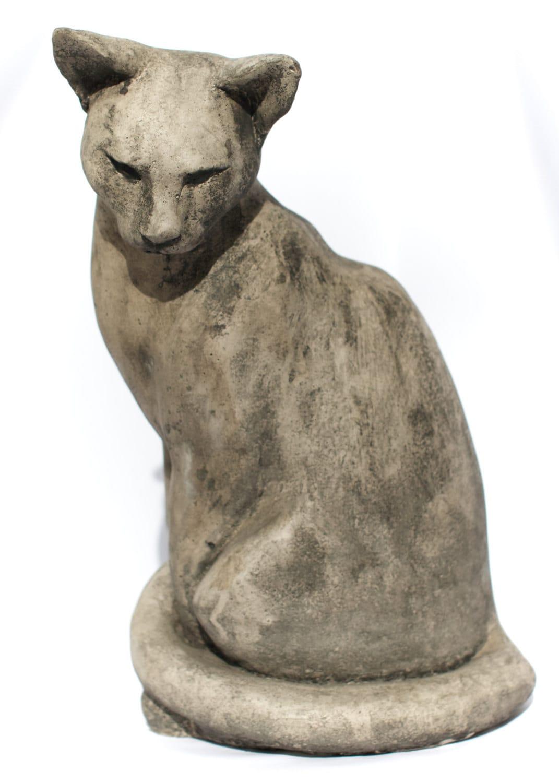 Lebensgroß sitzend Katze Skulptur. Für Garten oder