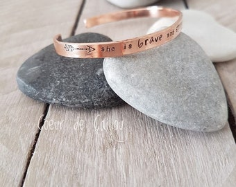 Copper Bohemian bracelet