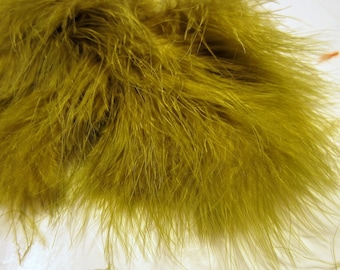 Olive Marabou Feathers MRD-08 Craft feathers boutonnieres fly tying crafts wispy