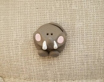 polymer clay jungle animal elephant magnet