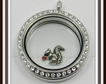 Squirrel Floating Charm for Glass Locket / Floating Locket / Living Locket