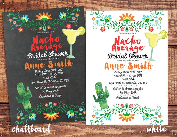 nacho average bridal shower invitation nacho average cactus