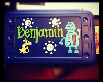 Personalized Pencil Box-Robot and Robot Dog