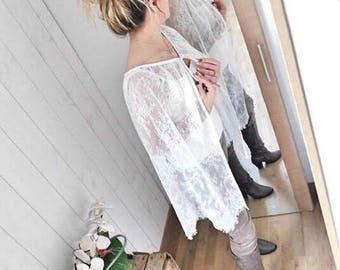 lace Cape, long cloak, Bridal cape, long cape long cloak, Bridal, wedding lace cape