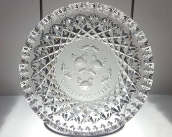 Vintage Waterford Crystal Dish/Plate - Twelve Days of Christmas - 1986 Three French Hens - Original Box