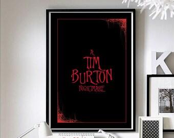 Opening Credits - ('Tim Burton') Wall Art