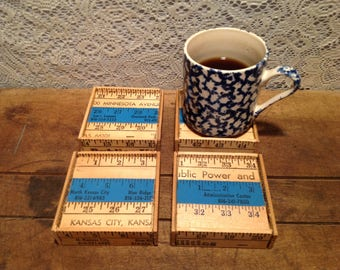 Set of Four Yardstick Coasters